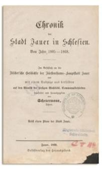 Chronik der Stadt Jauer in Schlesien : Vom Jahre 1805-1868