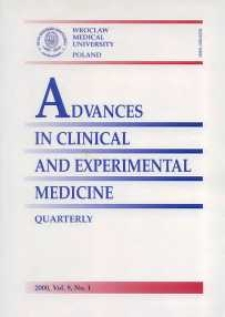 Advances in Clinical and Experimental Medicine, Vol. 9, 2000, nr 1