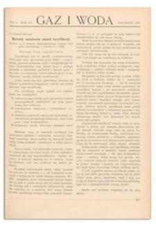 Gaz i Woda. R. XV, wrzesień 1935, Nr 9