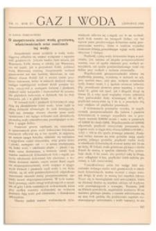 Gaz i Woda. R. XV, listopad 1935, Nr 11