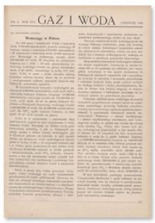 Gaz i Woda. R. XVI, czerwiec 1936, Nr 6