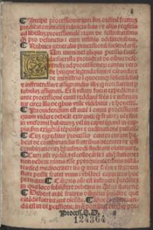 Processionarium secundum ritum & morem fratrum Predicatorum [...]