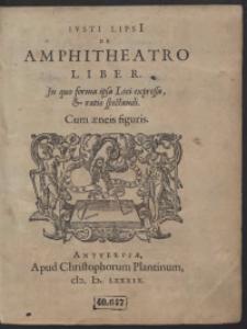 Iusti Lipsi[i] De Amphitheatro Liber […]