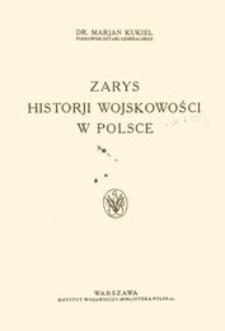 Zarys historji wojskowości w Polsce