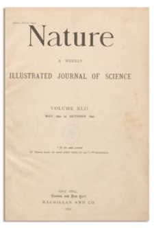Nature : a Weekly Illustrated Journal of Science. Volume 43, 1890 October 16, [No. 1094]