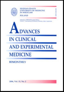 Advances in Clinical and Experimental Medicine, Vol. 15, 2006, nr 2