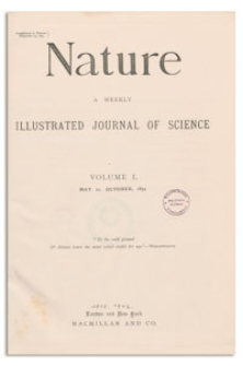Nature : a Weekly Illustrated Journal of Science. Volume 50, 1894 May 17, [No. 1281]