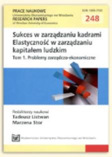 Międzykulturowe uwarunkowania elastyczności systemu oceniania pracowników w korporacjach międzynarodowych. Prace Naukowe Uniwersytetu Ekonomicznego we Wrocławiu = Research Papers of Wrocław University of Economics, 2012, Nr 248, s. 423-437