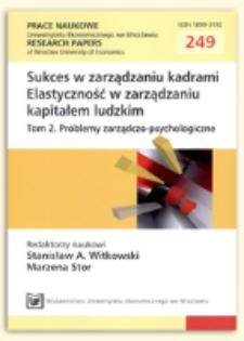 POS (Perceived Organizational Support) jako element modelu mentoringowego - polscy profesjonaliści na brytyjskim rynku pracy. Prace Naukowe Uniwersytetu Ekonomicznego we Wrocławiu = Research Papers of Wrocław University of Economics, 2012, Nr 249, s. 314-322