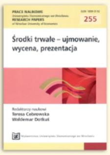 Problemy wyceny środków trwałych w jednostkach budżetowych. Prace Naukowe Uniwersytetu Ekonomicznego we Wrocławiu = Research Papers of Wrocław University of Economics, 2012, Nr 255, s. 218-229