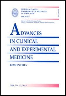 Advances in Clinical and Experimental Medicine, Vol. 15, 2006, nr 4