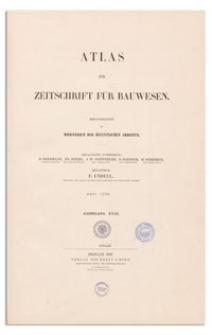 Zeitschrift für Bauwesen, Jr. XXXI, 1881, H. 1-3