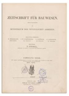 Zeitschrift für Bauwesen, Jr. XXXII, 1882, H. 1-3