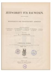 Zeitschrift für Bauwesen, Jr. XXXIII, 1883, H. 1-3