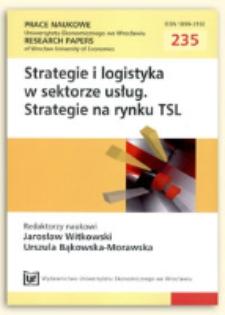 Strategie obsługi klienta w sektorze usług. Prace Naukowe Uniwersytetu Ekonomicznego we Wrocławiu = Research Papers of Wrocław University of Economics, 2011, Nr 235, s. 398-408