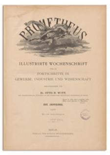 Prometheus : Illustrirte Wochenschrift über die Fortschritte in Gewerbe, Industrie und Wissenschaft. 17. Jahrgang, 1906, Nr 868