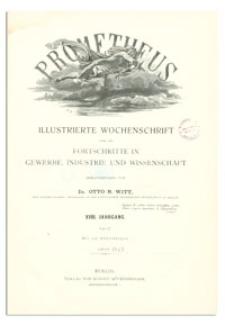 Prometheus : Illustrierte Wochenschrift über die Fortschritte in Gewerbe, Industrie und Wissenschaft. 18. Jahrgang, 1907, Nr 922