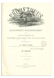 Prometheus : Illustrierte Wochenschrift über die Fortschritte in Gewerbe, Industrie und Wissenschaft. 19. Jahrgang, 1907, Nr 937