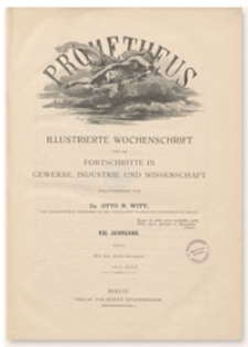 Prometheus : Illustrierte Wochenschrift über die Fortschritte in Gewerbe, Industrie und Wissenschaft. 21. Jahrgang, 1909, Nr 1045