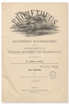 Prometheus : Illustrierte Wochenschrift über die Fortschritte in Gewerbe, Industrie und Wissenschaft. 22. Jahrgang, 1911, Nr 1116