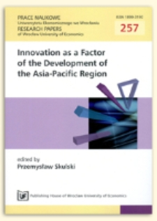 Transformation of China's innovation policy. Selected issues. Prace Naukowe Uniwersytetu Ekonomicznego we Wrocławiu, 2012, Nr 257, s. 105-112