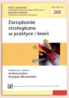 Efekt zarażania w działaniu przedsiębiorstwa. Prace Naukowe Uniwersytetu Ekonomicznego we Wrocławiu = Research Papers of Wrocław University of Economics, 2012, Nr 260, s. 575-585