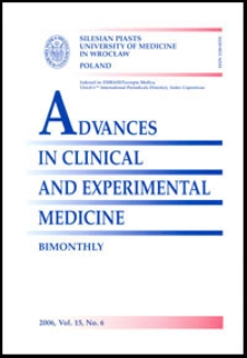 Advances in Clinical and Experimental Medicine, Vol. 15, 2006, nr 6