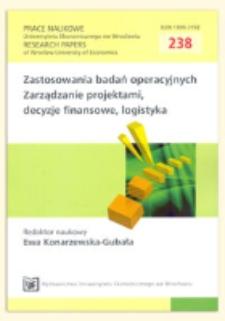 Porównanie wybranych metod określania wag dla kryteriów oceny wariantów decyzyjnych. Prace Naukowe Uniwersytetu Ekonomicznego we Wrocławiu = Research Papers of Wrocław University of Economics, 2011, Nr 238, s. 333-350