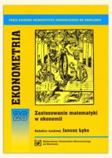 Metody szacowania wewnątrzdziennej sezonowości w analizie danych finansowych pochodzących z pojedynczych transakcji. Prace Naukowe Uniwersytetu Ekonomicznego we Wrocławiu, 2009, Nr 76, s. 83-96