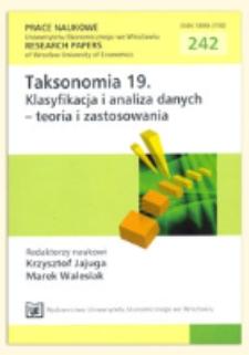 Symulacyjne badanie wpływu zaburzeń na grupowanie szeregów czasowych na podstawie modelu Copula-GARCH. Prace Naukowe Uniwersytetu Ekonomicznego we Wrocławiu = Research Papers of Wrocław University of Economics, 2012, Nr 242, s. 283-290