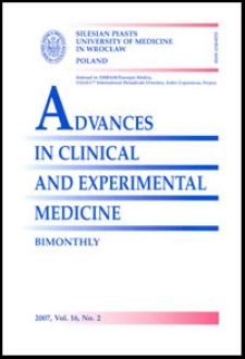 Advances in Clinical and Experimental Medicine, Vol. 16, 2007, nr 2