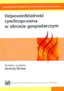 Zakres odpowiedzialności sprzedawcy za niezgodność towaru z umową sprzedaży konsumenckiej. Prace Naukowe Uniwersytetu Ekonomicznego we Wrocławiu, 2011, Nr 203, s. 136-155
