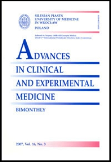 Advances in Clinical and Experimental Medicine, Vol. 16, 2007, nr 3