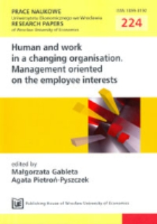 Legally protected employee interests and their observance in Polish economic practice. Prace Naukowe Uniwersytetu Ekonomicznego we Wrocławiu = Research Papers of Wrocław University of Economics, 2011, Nr 224, s. 11-19