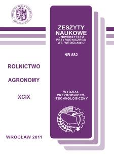 Zeszyty Naukowe Uniwersytetu Przyrodniczego we Wrocławiu. Rolnictwo 99, 2011