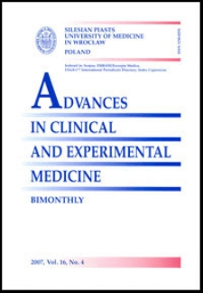 Advances in Clinical and Experimental Medicine, Vol. 16, 2007, nr 4