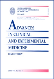Advances in Clinical and Experimental Medicine, Vol. 16, 2007, nr 5