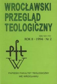 Wrocławski Przegląd Teologiczny, R.2 (1994), nr 2