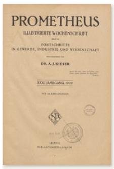 Prometheus : Illustrierte Wochenschrift über die Fortschritte in Gewerbe, Industrie und Wissenschaft. 31. Jahrgang, 1920, Nr 1609