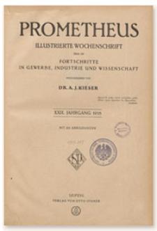 Prometheus : Illustrierte Wochenschrift über die Fortschritte in Gewerbe, Industrie und Wissenschaft. 29. Jahrgang, 1918, Nr 1499