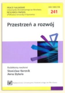 Nowe zjawiska występujące w rozwoju aktywizujących się regionów. Prace Naukowe Uniwersytetu Ekonomicznego we Wrocławiu = Research Papers of Wrocław University of Economics, 2011, Nr 241, s. 76-84