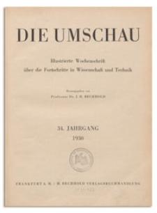 Die Umschau : Illustrierte Wochenschschrift über die Fortschritte in Wissenschaft und Technik. 34. Jahrgang, 1930, Heft 24