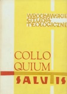 Colloquium Salutis : wrocławskie studia teologiczne. 3 (1971)