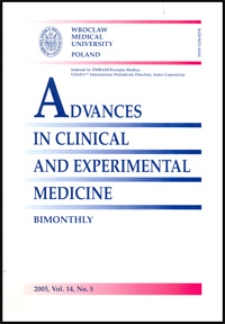 Advances in Clinical and Experimental Medicine, Vol. 14, 2005, nr 5