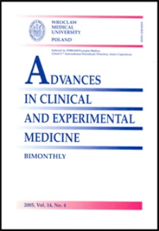 Advances in Clinical and Experimental Medicine, Vol. 14, 2005, nr 4