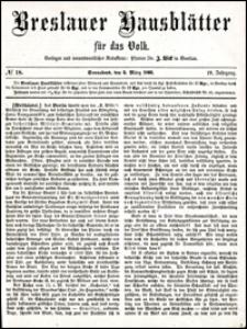 Breslauer Hausblätter für das Volk. Jg. 4, Nr. 18 (1866)