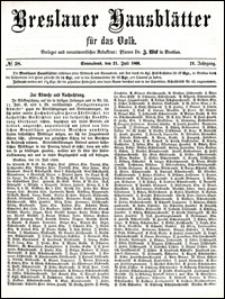 Breslauer Hausblätter für das Volk. Jg. 4, Nr. 58 (1866)