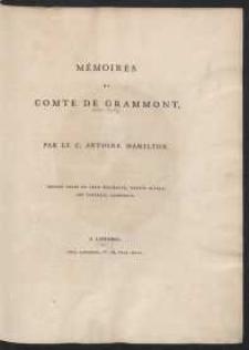 Mémoires Du Comte De Grammont […]
