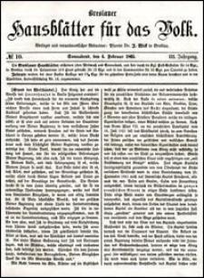 Breslauer Hausblätter für das Volk. Jg. 3, Nr. 10 (1865)