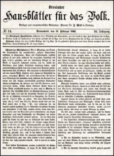 Breslauer Hausblätter für das Volk. Jg. 3, Nr. 14 (1865)